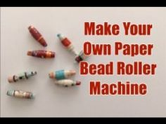 Make your own Machine to create Rolled Paper Beads with Recycled Paper Paper Beads Tutorial, Make Paper Beads, Paper Bead Jewelry, Fabric Jewelry, How To Make Paper, How To Make Beads, Paper Beads Template, Beading Jewelry, Beading Tutorials
