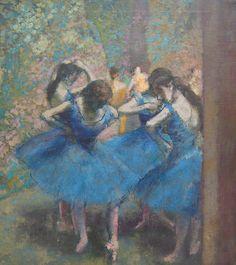 Edgar Degas: Danseuses bleues, 1893