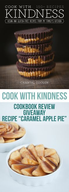 This recipe for a vegan Caramel Apple Pie is from the Cook with Kindness cookbook. It's vegan, gluten-free, and you don't have to bake it! Healthy Vegan Snacks, Vegan Treats, Vegan Foods, Vegan Dessert Recipes, Gluten Free Recipes, Delicious Desserts, Vegan Caramel, Going Vegan, Caramel Apples