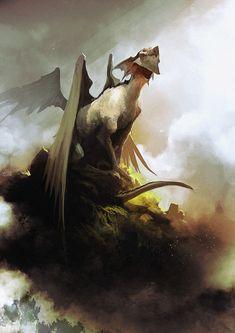 Soul dragon , Sébastien Brunet on ArtStation at https://www.artstation.com/artwork/DxJwE