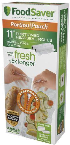"""Food Saver 11"""" Portion Pouch Rolls, 2pk, FSFSBF2626-000"""