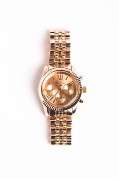 Maia McDonald | Rose Gold Boyfriend Watch by A-thread on Luvocracy