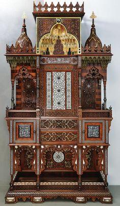 Cabinet made by the Ottoman Emperor Abdülhamid II, century - ArtefactPorn