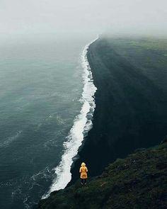 Praia de areia preta, Islândia Foto:  @zeppaio
