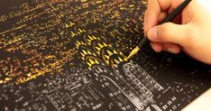 Coloring Book Alternative Lets You Scratch Off Surface To Reveal Beautiful Nightscapes   Bored Panda