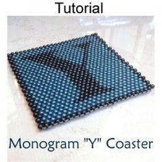 Peyote Coaster Monogram Y PDF Beading Pattern