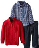 Nautica Baby-Boys Infant Cable Knit Sweater Set Cotton Machine Wash Sweater, shirt, and pant included Comfortable fit