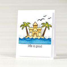 Lawn Fawn - Life is Good _ card by Victoriya via Flickr