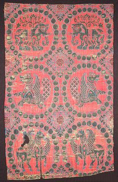 Textile, century From Spain, medieval era Medieval World, Medieval Art, History Of Textile, High Middle Ages, Art Chinois, Century Textiles, Art Japonais, Passementerie, 11th Century
