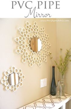 Mirror made out of PVC Pipe!