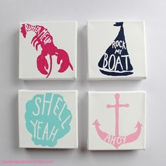 Lilly Pulitzer wall hangings! I definitely must make these. <3 These are absolutely adorable & so sweet. Plus, it matches my Lilly skirt. <3 Ugh, I'm so in love! Next project? I think so.