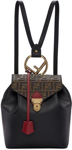 e059779c3bc2 Fendi - Black  Forever Fendi  Flap Backpack
