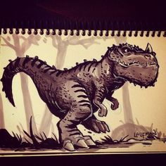 Inktober Day 29 - Dinosaur! by DerekLaufman on deviantART