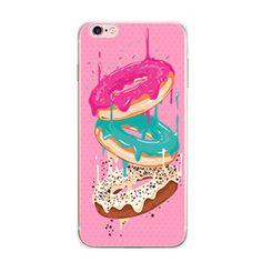 iPhone 7 Plus Case - Cartoon /Comics /Pop Art Design iPhone7 Slim Cover [Good Moon Desserts: Chocolate Donuts /Colorful Macaron /French Macaroon]