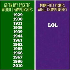 Sorry to my friends who are Vikings fans, but seriously, can't make up this up!! :)