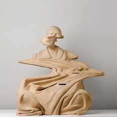 GlitchwoodensculpturePaulKaptein Paul Kaptein An - Taiwanese artist creates wooden sculptures that look like digital glitches