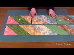 Create an impressive quilt top with fabric strips and straight stitches - YouTube