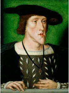 Charles Quint en 1515-1520. -Après la 2° phase, la guerre Charles Quint-roi de France, reprend dès 1547 avec Henri II, le successeur de François 1°, pour se terminer sans qu'il y ai eu eu d'engagement décisif, par la trêve de Vaucelles (1556). En définitive, les rois de France ont réussi à contenir la puissance de Charles Quint.