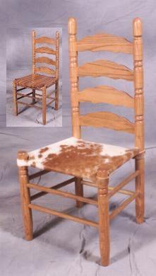 cowhide seat chair