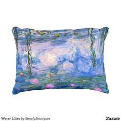 Water Lilies Decorative Pillow