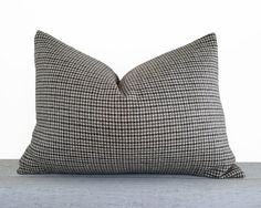 Brown Grey Houndstooth Pillow Covers Grey by PillowThrowDecor