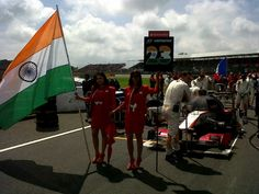 Narain takes his position at the 2012 starting grid | via HRT F1 Team