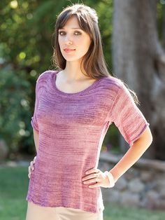 Ravelry: Bamboo Spring Garden Tee pattern by Nomvula Knitters