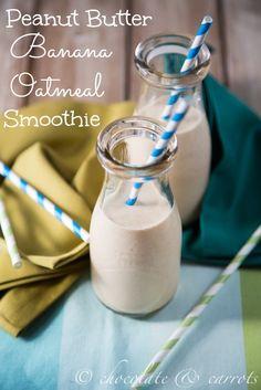 Peanut Butter Banana Oatmeal Smoothie #weightlossrecipesforwomen