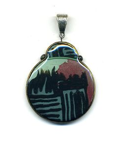 Pendant of polymer clay by Montse on Etsy