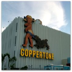 The Coppertone girl on Biscayne Blvd. was always a clear sign of Miami--its since moved to a different location on the blvd., where it is currently is in the picture, also after a major overhaul to get it in good condition again