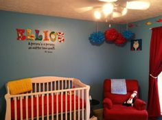 Dr. Suess nursery - awesome idea to decorate the letters instead of the walls!!