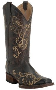 Corral Circle G Ladies Chocolate w Embroidered Dragonfly Square Toe Western  Boots  e03c7bfe816