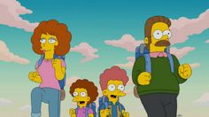 Patton Oswalt plays Terrence (Fred) and Emily's (Carrie) son, T-Rex on The Simpsons The Simpsons, Nickelodeon Videos, Ice Age Movies, Goat Cartoon, Homer And Marge, Ned Flanders, Carrie Brownstein, Fred Armisen, The Jetsons