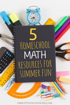 Keep the learning fun and engaging throughout the summer with these homeschool math resources. Give the kids a break without taking a break.