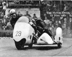 Harry Scholes 1961 TT Quarter Bridge. Harold SCHOLES - fatally injured at Brands Hatch - 19 August 1962 - whilst competing on a sidecar and died of his injuries 9 days later 28 August 1962