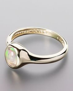 Traumhafter Goldring mit Wasseropal - #schmuck #terra #opalis #opal #ring