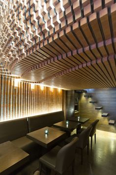 Image 8 of 24 from gallery of Espriss Café / Hooba Design Group. Photograph by Parham Taghioff Brick Interior, Cafe Interior, Modern Interior Design, Wall Cladding Designs, Brick Cafe, Restaurant Lounge, Tango Restaurant, Restaurant Ideas, Restaurant Design