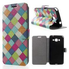 Samsung Galaxy Grand Prime Flip cover, hoesje, case Colorful Grid