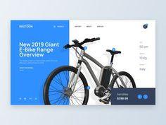 Bike eCommerce - Web UI Design designed by Angel Villanueva for Orizon. the global community for designers and creative professionals. Online Web Design, Web Ui Design, Web Design Trends, Web Design Company, Logo Design, Graphic Design, Website Design Layout, Website Design Services, Web Layout
