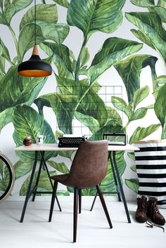 Summer may last forever with a bit of inspiration!  Dive into #wallideas and create your own paradise with #selfadhesive #wallpapers 🌴🍍 #interiordesign #walldecor #DIY