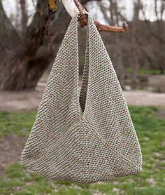 Geometric two tones hobo bag - |