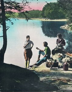 Picnic Point Hand Tinted Photo Print