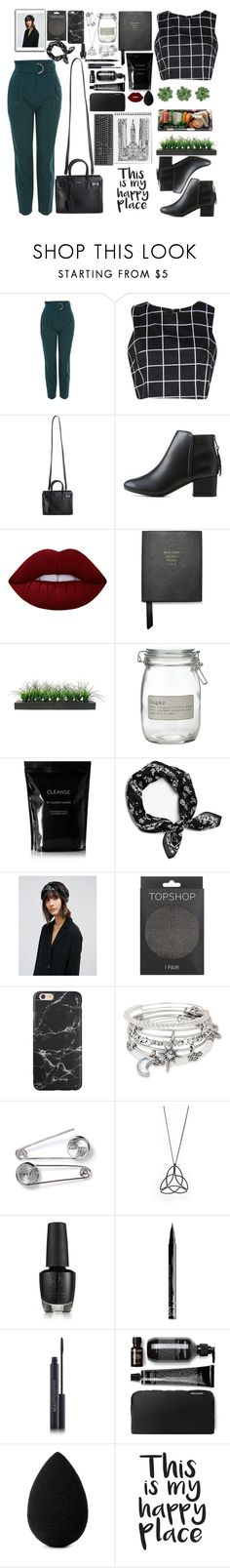 """""""Untitled #222"""" by edelintess on Polyvore featuring Topshop, Boohoo, Yves Saint Laurent, City Classified, Lime Crime, Smythson, Vintage, J by Jasper Conran, Jura and Cleanse by Lauren Napier"""