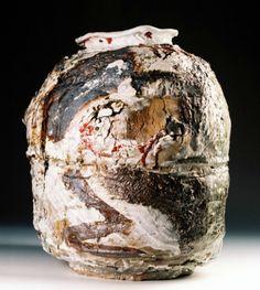 Gareth Mason | sand rock jar: stoneware, porcelain, glaze, mineral, oxide