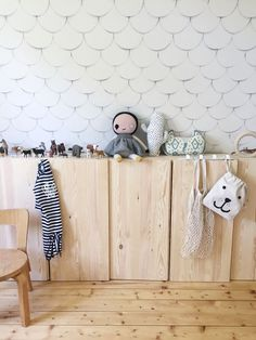 raw wood low cabinet