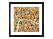 London Map Art Print by Monde Mosaic, the perfect gift for Explore more unique gifts in our curated marketplace. Framed Maps, Framed Wall Art, Framed Art Prints, Fine Art Prints, Canvas Prints, Old Film Posters, Art Carte, Quirky Decor, London Map