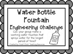 Dream Design Do: Water Bottle Fountain: Engineering Challenge Project ~ Great STEM Activity! $