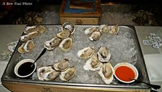 Freshly shucked oyster bar Oyster Bar, Oysters, Table Settings, Website, Party, Fiesta Party, Table Top Decorations, Place Settings, Parties