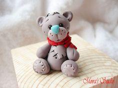 My Teddy bear for Christmas Cute Teddy bear by MoirasStudio