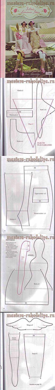 Artesanías Master - Manualidades para el hogar.  Talleres gratuitos, foto y video tutoriales - Clase Magistral sobre la costura: Tilda Giardiniera